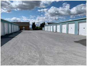 Two rows of storage units.